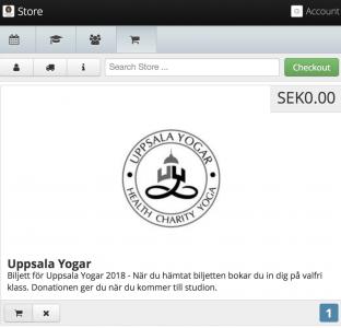 Uppsala Yogar Biljett