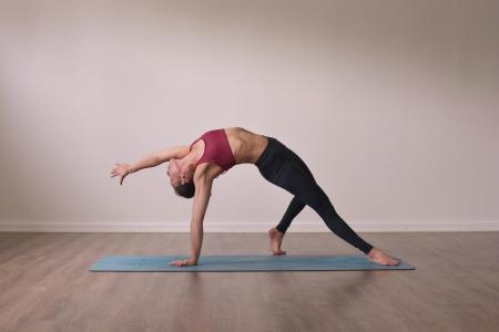 women doing wildthing pose for yogateket online yoga uppsala