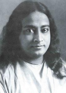 Black and whit picture of Yogananda