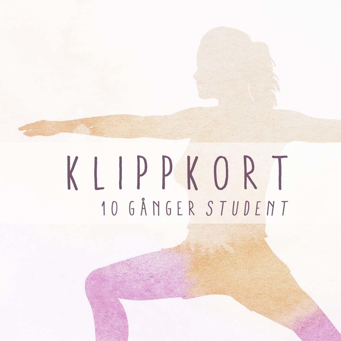 Studentyoga – Klippkort 10 gånger (giltigt 1 år) – Hot Yoga Uppsala feedc2a8fa654