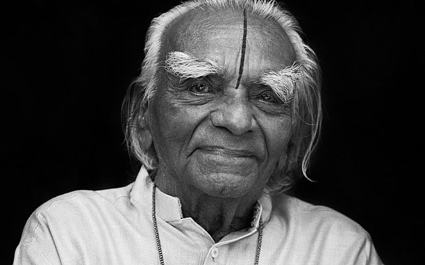 Iyengar portrait black and white