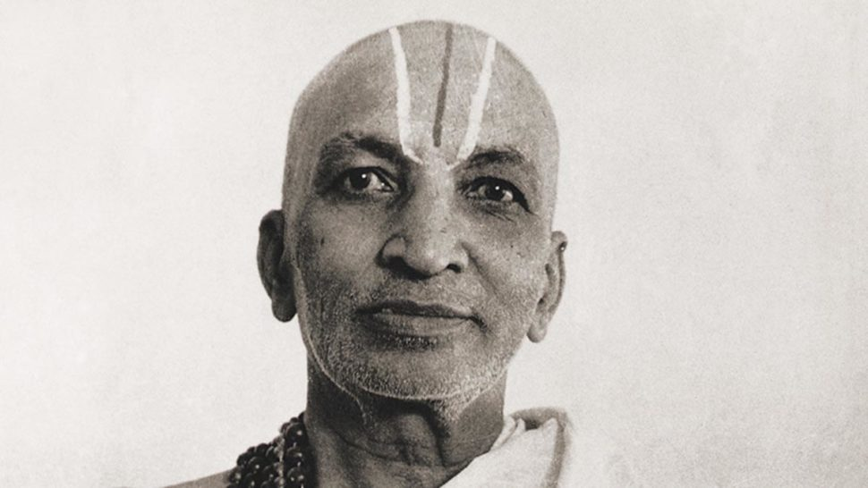 Krishnamacharya portrait in black and white